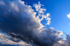 Dramatic sunset stormy cloudscape Stock Image