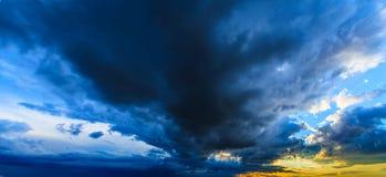 Dramatic sunset stormy cloudscape Stock Photo