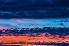 Dramatic sunset stock images