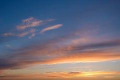 Dramatic sunset and sunrise sky Royalty Free Stock Image