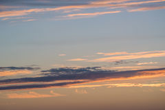 Dramatic sunset and sunrise sky Royalty Free Stock Photography
