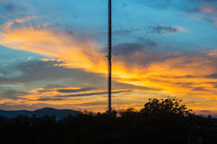 Dramatic sunset and sunrise sky. Stock Images