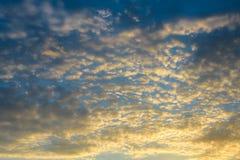 Dramatic sunset and sunrise sky Royalty Free Stock Photo