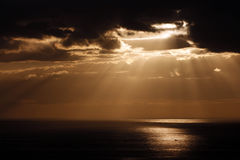 Dramatic sunset in Tenerife, Spain Royalty Free Stock Images
