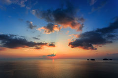 Dramatic Sunset in Thailand Royalty Free Stock Image