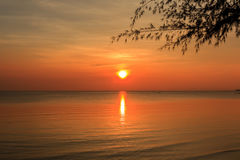 Dramatic Sunset in Thailand Royalty Free Stock Photos