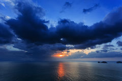 Dramatic Sunset in Thailand Stock Photography