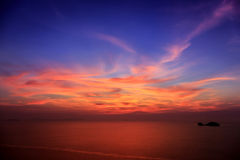 Dramatic Sunset in Thailand Stock Image