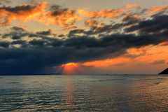 Dramatic Sunset in Thailand Royalty Free Stock Photo