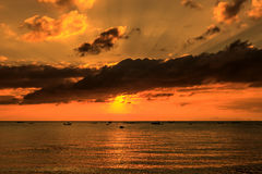 Dramatic Sunset in Thailand Stock Photos