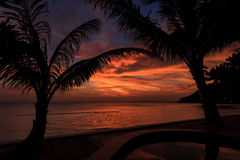 Dramatic Sunset in Thailand, Samui Stock Images