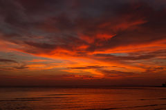 Dramatic Sunset in Thailand, Samui Stock Image