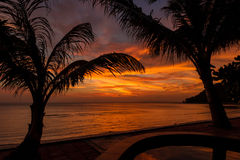 Dramatic Sunset in Thailand, Samui Royalty Free Stock Images