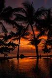 Dramatic Sunset in Thailand, Samui Royalty Free Stock Image