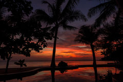 Dramatic Sunset in Thailand, Samui Stock Photo