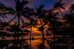 Dramatic Sunset in Thailand, Samui Stock Photo