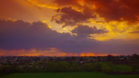 Dramatic sunset time-lapse stock footage