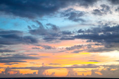 Dramatic sunset  on Trawangan Royalty Free Stock Images