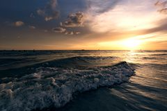 Treasure Island sunset. Dramatic sunset in Treasure Island Florida stock photo