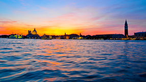 Dramatic sunset in Venice Royalty Free Stock Photography