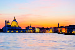 Dramatic sunset in Venice Royalty Free Stock Images