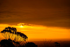 Dramatic sunset view Royalty Free Stock Images