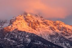 Dramatic Teton Sunrise Royalty Free Stock Image