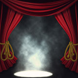 Dramatic theater stage with spotlights Stock Image