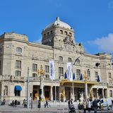 At the Dramatic Theatre in Stockholm. The Royal Dramatic Theatre, better known as the Royal Dramatic Theatre is Sweden's national stage. The theater operates on Royalty Free Stock Photography
