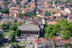 Dramatic Theatre - landmark attraction in Brasov, Romania; picture taken from Tampa Mountain Stock Photography
