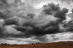 Dramatic Thunder Storm Clouds Background. Nature Landscape Royalty Free Stock Photography