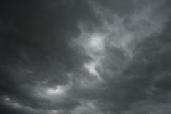 Dramatic thunder storm clouds in summer Royalty Free Stock Images