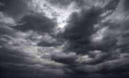 Dramatic thunderstorm clouds background at moody sky Royalty Free Stock Image