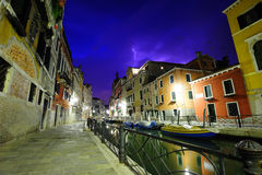 Dramatic thunderstorm in Venice Royalty Free Stock Image