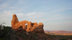Dramatic Timelapse in Arches National Park stock footage