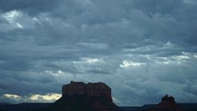 Dramatic Timelapse in Monument National Park. View of Dramatic Timelapse in Monument National Park stock video footage