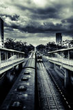 Dramatic trains Stock Images