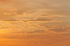 Dramatic twilight cloudscape Stock Image