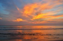 Dramatic twilight sky and sea with horizon. Dramatic nice twilight sky and sea with horizon stock photos