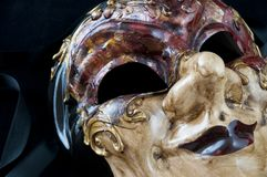 Dramatic venetian mask Royalty Free Stock Photo