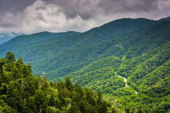 Dramatic view of the Appalachian Mountains from Newfound Gap Roa Royalty Free Stock Photography
