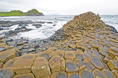 Dramatic View of Basalt Columns on the Coast Royalty Free Stock Images