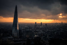 A dramatic view of the Brexit ready London Stock Image