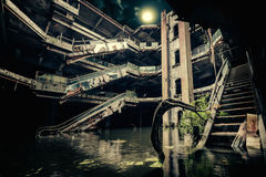 Dramatic view of damaged and abandoned building Royalty Free Stock Photos