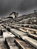 Dramatic view of the defunct main tribune Royalty Free Stock Images