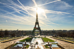 Dramatic view Eiffel Royalty Free Stock Photos