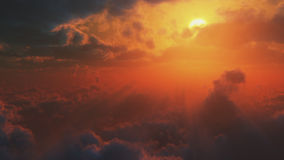 Dramatic  view from heaven. Dramatic impressive view from heaven with bright sun and clouds Stock Image