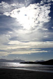 Dramatic View from Newborough Beach. Anglesey, Wales Stock Image