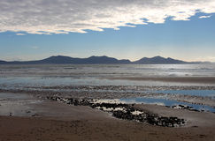 Dramatic View from Newborough Beach. Anglesey, Wales Royalty Free Stock Images