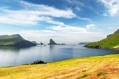 Free Dramatic View On Drangarnir And Tindholmur Sea Stacks Royalty Free Stock Photography - 215259257
